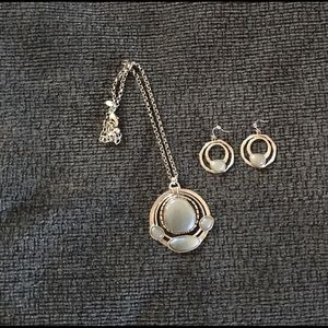 Chico's Pendant and earrings set